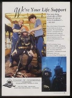 1991 deep-sea diving #diver 2 color #photo college of #oceaneering ca ad,  View more on the LINK: http://www.zeppy.io/product/gb/2/361583118725/
