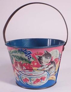 Sand pails and beach toys vintage on pinterest sand for Fish bowl toy
