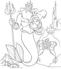 Walt Disney Coloring Page Of King Triton And Princess Ariel From The Little Mermaid Ariels Beginning HD Wallpaper Background Photos