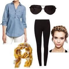 """""""Casual Spring Day of Classes"""" by cara-weidinger on Polyvore"""
