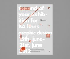End of Year Exhibition by Magnus Henriksen, via Behance