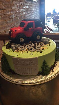 16 Birthday Cake, 2nd Birthday Parties, 16th Birthday, Fondant Animals Tutorial, Jeep Cake, Camping Cakes, Turning 50, Groom Cake, Cupcakes