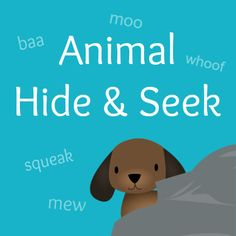 Animal Hide & Seek game to help your kids practice paying attention!