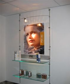 Brandstand NZ - Poster and shelving retail unit