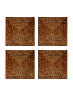 Square Rattan Placemats (Set of 4)