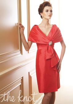 Mother of the bride dress with separate wrap