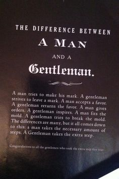 difference between a man and a gentleman