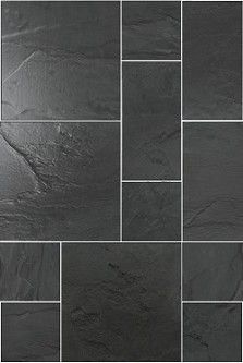 28m. Rustic Black Slate Modular Calibrated