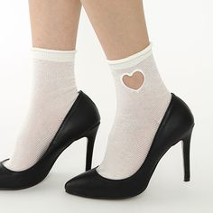 HEART WINDOW SHEER ANKLE SOCKS image