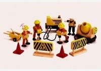 Lovely wood Construction Equipment and people