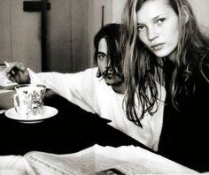 Johnny Depp & Kate Moss ~ Photo by Annie Leibovitz