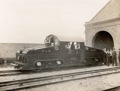 An early underground train on the Central London Railway, opened in 1900, which eventually became the Central line. This engine could be driven in both directions.