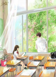 All About Anime. Daily Anime Posts Your One Hub For All Anime Needs Couple Manga, Anime Love Couple, Cute Anime Couples, Sweet Couples, Illustration Manga, Couple Illustration, Anime Couples Drawings, Couple Drawings, Art Drawings