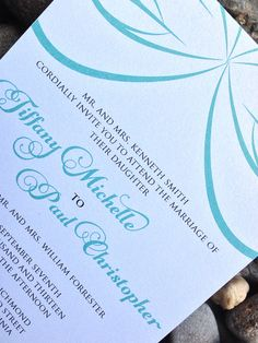 Formal Wedding Invitation, Wedding Invitation, Wedding Invites - The Tiffany Wedding Invitation - Wedding Invitation Sample on Etsy, $6.50 #wedding #invitations #weddinginvitations