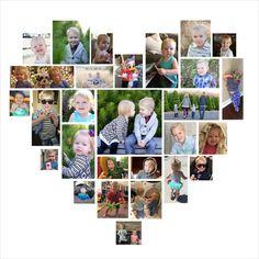 12x12 Custom Photo Heart Collage by CustomPhotoDesign on Etsy