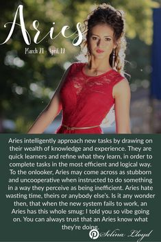 You can always trust an Aries to get it right