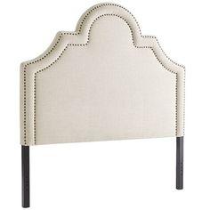 Ella II King Natural Upholstered Headboard