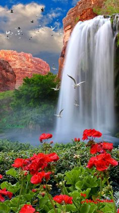 So picturesque and therapeutic Beautiful Waterfalls, Beautiful Landscapes, Beautiful World, Beautiful Images, Beautiful Gardens, Photos Voyages, Nature Scenes, Nature Pictures, Amazing Nature