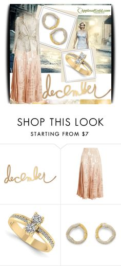 """""""Apples of Gold Jewelry 6"""" by amerlinakasumovic ❤ liked on Polyvore featuring Heidi Swapp, Christopher Kane, TIM VAN STEENBERGEN and applesofgoldjewelry"""