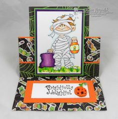 High Hopes Stamps: Frightlfuly Delightful by Kristine using Mummy (SS008) & Frightfully Delightful (HH009)