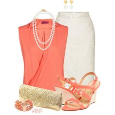 Coral, Cream, and Gold