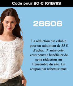 28606 - Code pour 20 € RABAIS. Promo code Septembre 2013.