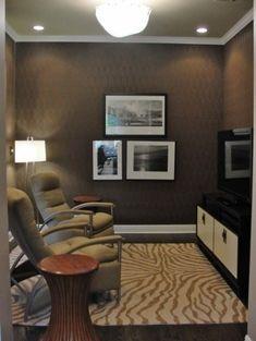 Very small media room-I do like it | Man cave | Pinterest | Small ...