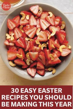 These Easy Easter Recipes Are All You Need This Year Easter Snacks, Easter Brunch, Easy Easter Recipes, Taste Of Home, New Recipes, Main Dishes, Breakfast Recipes, Food Ideas, Tasty