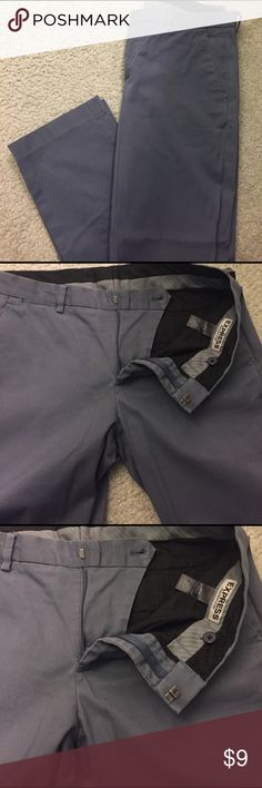 Men 32\30! Used in good condition! By Express! Dress pants in grey slim fit! Express Pants Dress