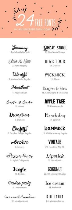 24 FREE FONTS by annmeerdesign.com