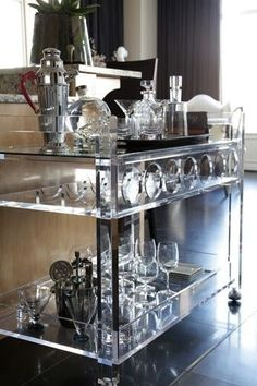 And can we talk about this bar cart?  Cheers to that! A-Z Home Decor Trend 2014: Lucite - Alice T. Chan   HGTV Host and Interior Designer   Alice T. Chan As Seen On HGTV   San Francisco Bay Area Interior Renovation and Design Specialist