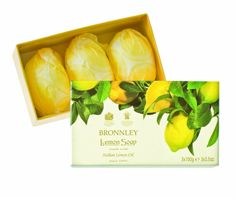 """Bronnley Lemon Soap - Handmade triple milled soap from H. Bronnley & Co., """"makers of the best soaps in the world""""."""