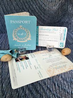 Passport Wedding Invitation, Classic Style Wedding Invitation, Beach Wedding Invitations, Wedding Invites - Invitation Sample Kit