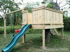 DIY swing set/play house