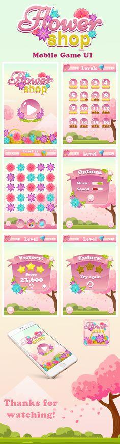 Mobile Game UI - Flower Shop