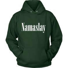 The Namaslay Hoodie - White Font