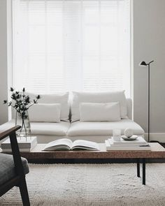 Home Interior Pictures Scandinavian living room. Photo by Charlotte King of Le Petit Fika Living Room Interior, Home Living Room, Living Room Designs, Living Room Decor, Living Spaces, Living Room And Bedroom In One, Living Room White, Söderhamn Sofa, Family Room Design