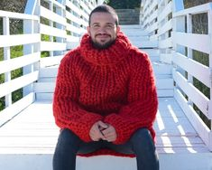 Thick Sweaters, Hand Knitted Sweaters, Merino Wool Sweater, Winter Sweaters, Wool Sweaters, Big Knits, Thing 1, Hand Knitting, Turtle Neck