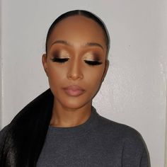 """Mandisa •NYC Makeup Artist• on Instagram: """"Her Request.... Clean natural GLAM with a POP on the eyes, I layered 4  neutral/champagne shadows to get the dimension from my…"""" Black Tie Wedding Guests, Shadows, Champagne, Neutral, Layers, Nyc, Makeup, Artist, Instagram"""