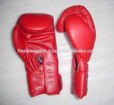 PU Red Boxing Gloves available hand mold with high density great look fresh model 2017