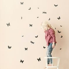 Mini Butterflies Wallsticker, Svart - Ferm Living - Ferm Living - RoyalDesign.se