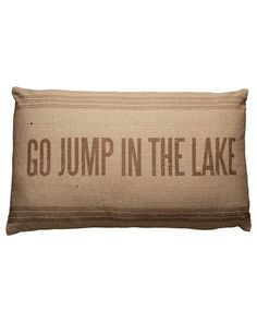 Primitives by Kathy 'Jump in the Lake' Decorative Pillow