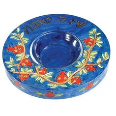 """Wooden honey plate is hand ƒ?? painted with a brush using acrylic colors and then several layers of lacquer. The plate contains a glass bowl for the honey. Size: 1.8"""" X 2"""""""