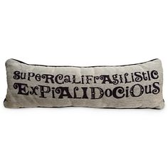 Mary Poppins Pillow - ''Supercalifragilisticexpialidocious'' | Bedding | Disney Store