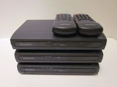 Lot 3 MAGNAVOX TB100MW9 Digital to Analog DTV Converter w/ 2 Remotes Set Top Box #Magnavox