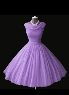 1950s lilac party dress