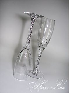 Hey, I found this really awesome Etsy listing at https://www.etsy.com/listing/125736373/brilliant-wedding-champagne-glasses