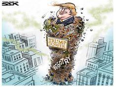 13 hilarious cartoons that skewer Donald Trump
