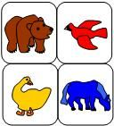 Brown Bear, Brown Bear story retelling activity available at www.makinglearningfun.com.