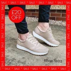 🔺 £20 off these leather trainers - excellent value - now only £65 Get them here 👉  www.beggshoes.com/creator-riolace-18287A-50 #leathertrainers #leathershoes #trainers #sportsluxe #athleisure Beige Trainers, Leather Trainers, Leather Sneakers, Bags 2014, Sports Luxe, Sporty Look, Summer Sandals, Athleisure, Oxford Shoes